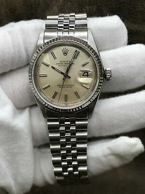 $ CDN5435.35 • Buy Rolex Datejust 1603 Silver Dial Automatic Men's Watch