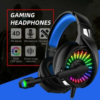 AU36.99 • Buy 3.5mm Gaming Headset MIC LED Headphones Surround For PC Mac Laptop PS4 Xbox One