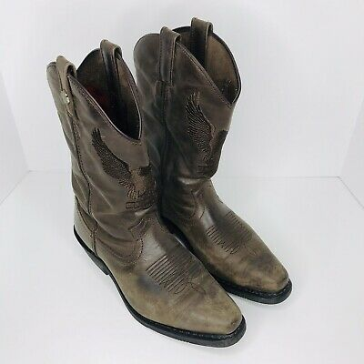 $ CDN108.77 • Buy Harley Davidson Drayton Brown Leather Motorcycle Western Boots Men's Size 9M VGC