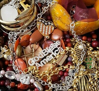 $ CDN35.08 • Buy Vintage Now Unsearched Untested Junk Drawer Jewelry Lot All Wear Estate L916