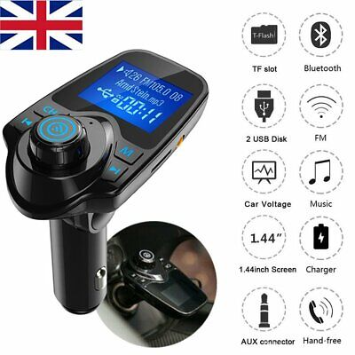£11.59 • Buy Wireless Car Kit FM Transmitter Bluetooth Radio MP3 Music Player LCD USB Charger