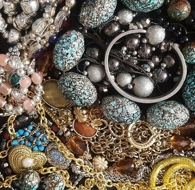 $ CDN42.34 • Buy Vintage Now Unsearched Untested Junk Drawer Jewelry Lot All Wear Estate L919
