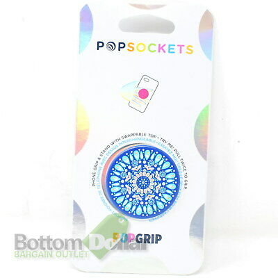 AU13.53 • Buy PopSockets 802599 PopGrip Grip & Stand With Swappable Top Butterfly Mandala Teal