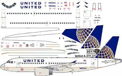 £7.10 • Buy United Airbus A-319 Pointerdog7 Decals For Revell 1/144 Kit