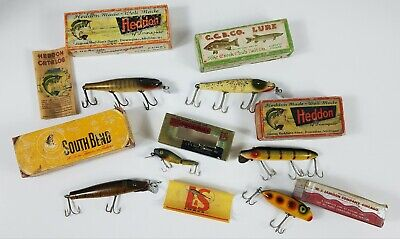 $ CDN48.51 • Buy Lot Of 6 Vintage Fishing Lures And 6 Vintage Boxes As Pictured Vtg