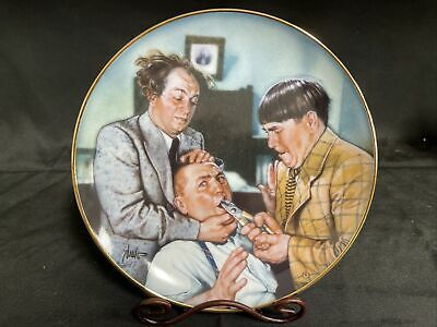 "£17.75 • Buy Franklin Mint Collectors Plates ""The Three Stooges"" Yanks For The Memories"
