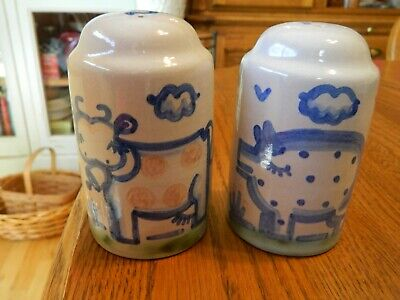 $12.95 • Buy M.A.Hadley Pottery Cow & Pig Salt And Pepper Shakers