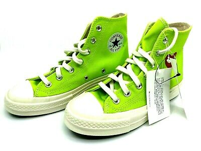 £104.55 • Buy Converse NEW Comme Des Garcons Play Chuck 70 Green High Top Heart Sneakers AUTH