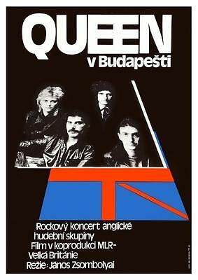 $15.94 • Buy QUEEN *POSTER* Live In Budapest  - Rock Concert Freddie Mercury Brian May