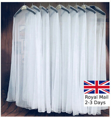 £6.99 • Buy Extra Large Garment Bridal Gown Long Breathable Storage Bag Wedding Dress Cover