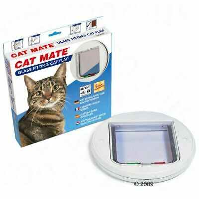£34.99 • Buy Round Glass Fitting Cat Flap 4 Way Lock Doors & Windows High Quality Low Noise