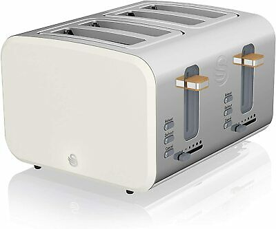 £23 • Buy Swan 4 Slice Nordic Toaster 1500W Soft Touch Housing Stainless Steel Matt Finish