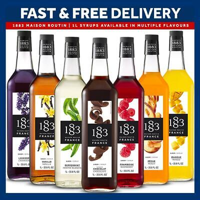£11.99 • Buy 1883 Maison Routin Syrups Cocktail Coffee 1L Syrups | All Flavours | UK Monin
