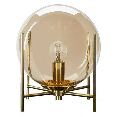 £39.99 • Buy Champagne Tinted Glass Ball Table Lamp E14 Fitting In Brass Clearance Litecraft