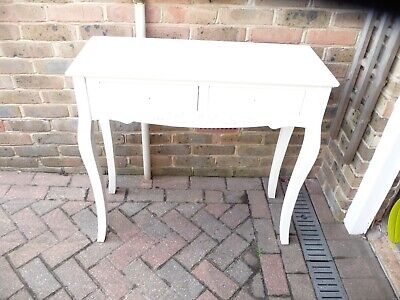 £5 • Buy Modern Style  Wood And MDF Console Table. 2 Drawers On Cabriole Legs.