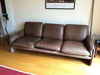 £800 • Buy Late Mid Century Leather De Sede Sofa Ideal For A Small Home