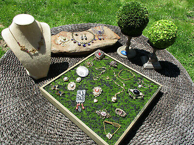 $ CDN15.76 • Buy Vintage Victorian Style Jewelry Lot CAMEOS, SARAH COVENTRY JEWELED POCKET WATCH