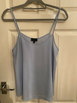 £5 • Buy Gorgeous Topshop Baby Blue Strappy Camisole Top, Summer, UK Size 12
