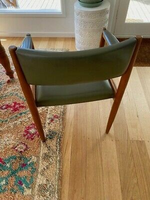 AU35 • Buy Mid Century Retro Dining Chair Vinyl Green Cover