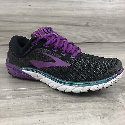 $ CDN54.75 • Buy Brooks Pure Cadence 7 Womens Size 8 Purple Black Trail Running Shoes Sneakers