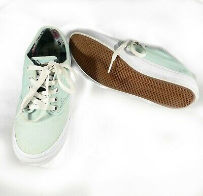 $ CDN9.37 • Buy Womens VANS Light Green Canvas Sneakers Shoes Size 8