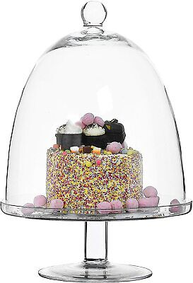 £59.99 • Buy Large Glass Cake Stand & Dome Cloche Wedding Cup Cakes - Choice Of Style & Size