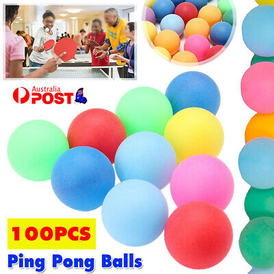 AU17.84 • Buy 100Pcs Colored  Pong Balls Entertainment Table Tennis Mixed Colors For Game Toy
