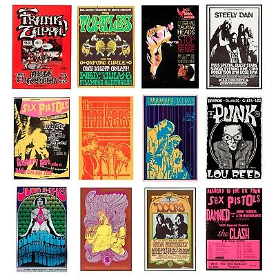 £11.99 • Buy Rare Rock Band Posters, Vintage Concert Posters, Tour Posters, A5 A4, A3, A2