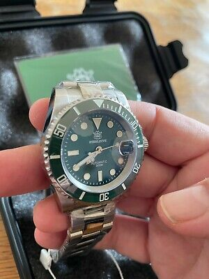 £99 • Buy Uk Steeldive Sd1953 Green Dive Watch, Seiko Nh35, 300m,  Hulk Submariner Homage