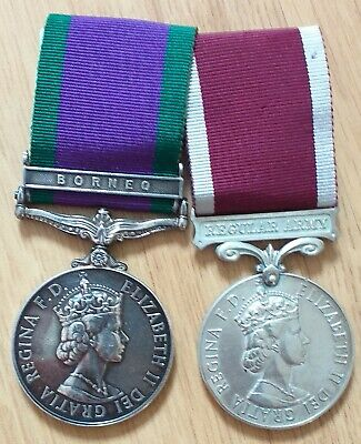 £130 • Buy Campaign Service Medal Borneo Clasp And Long Service Good Conduct Medal