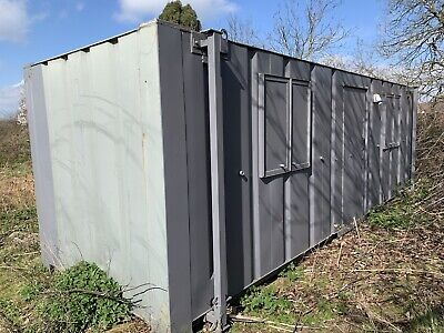 £3250 • Buy Portable Site Office Cabin Welfare Unit Anti Vandal Steel Container 24ft