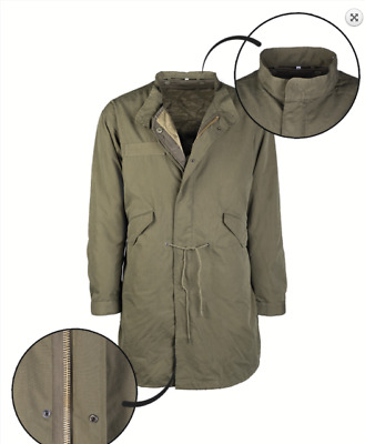 $126.24 • Buy US Shell Hooded Parka M65 Fishtail + Liner Field Jacket + Feed Olive Size XS