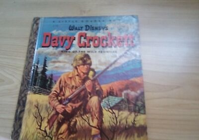 £9.07 • Buy A Little Golden Book Walt Disney's DAVY CROCKETT King Of The Wild Frontier KIDS