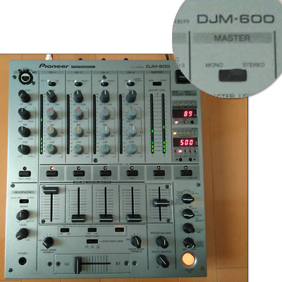 £248.85 • Buy Pioneer DJM-600 DJ Mixer Professional 4-channel Silver Working From Japan