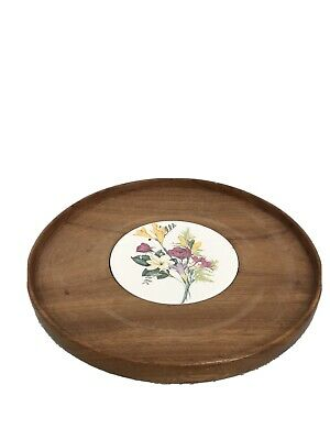 £19.30 • Buy Rotating Wooden Turntable Brown Solid Well Made Lazy Susan 32cm