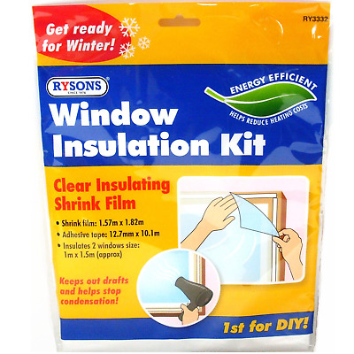 £2.79 • Buy Window Insulation Kit Double Glazing Film Condensation Cold Draught Excluder