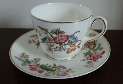 £6.50 • Buy Vintage Wedgwood 'Sandon' Tea Cup And Saucer, Floral Butterfly Bee Design