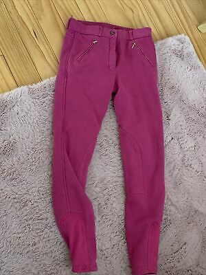 £10 • Buy Girls Riding Jodphurs Size 13 Years. Pink. Thick Fleeced Lined - Requisite