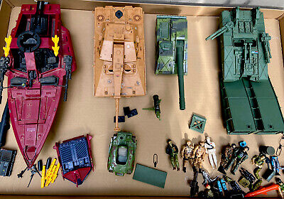 $ CDN604.98 • Buy Vintage GI Joe HUGE Lot Of Tanks, Hydrofoil, Vehicles,  Action Figures 1980's