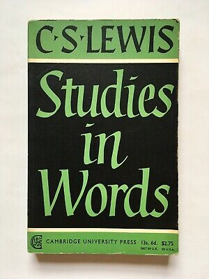 £10 • Buy C.S. Lewis Studies In Words 1967 Paperback