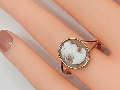 £55 • Buy Vintage 9ct Gold Cameo Ring.1.96g