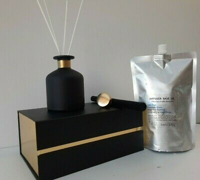 AU29.95 • Buy Reed Diffuser Set~ Jar, White Reeds And 200ml Highly Scented Diffuser Refill