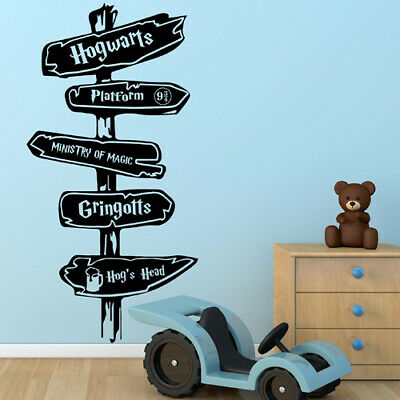 £4.99 • Buy HARRY POTTER WALL STICKERS, Inspired Road Sign Vinyl Wall Art Decal Quote N171