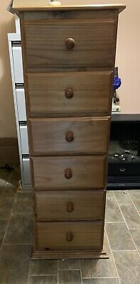 AU25 • Buy Wooden Chest Of Drawers Tallboy 6 Drawers, Solid Pine.