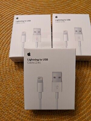 AU23.17 • Buy 3 X Original Charger For Apple IPhone USB Lightning Cable OEM  12 118 X Genuine