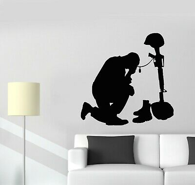 $69.99 • Buy Vinyl Wall Decal Warrior Fallen Soldiers Silhouette Military Stickers (g5524)