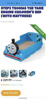 £120 • Buy Thomas The Tank Engine Toddler Bed With Mattress