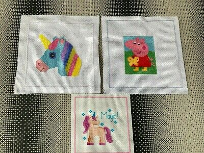 £3.50 • Buy Cross Stitch Birthday Card Toppers Peppa Pig Unicorns