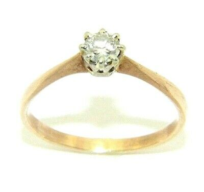 AU553.04 • Buy Ladies/womens 9ct Rose Gold Engagement Ring With A Solitaire Diamond, UK Size N