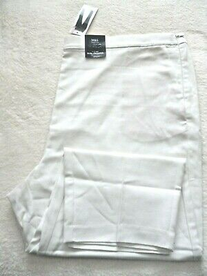 £12.99 • Buy M&S Winter White Slim Cropped Trousers 24 Regular High Rise BNWT 98% Cotton